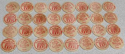 32 Sambo's Wooden Nickles - All Pueblo