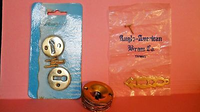 lot of 11 assorted Brass Key Hole escutcheons vintage and new