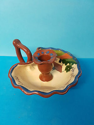 Many are called but few get up Torquay Ware Candle Stick / Holder / Chamberstick