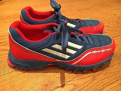 Adidas attack 2 Hockey Astro Trainers Sports Shoes Uk 6.5 Red Blue