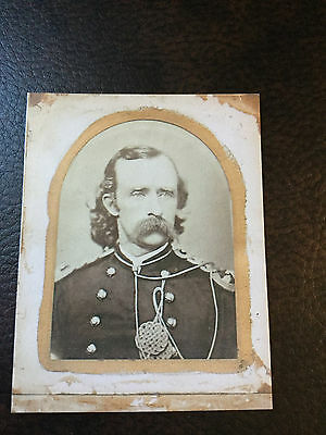 Civil War General George Armstrong Custer  TinType C908NP