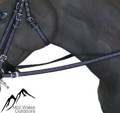 NEW Libbys Black Reflective Rubber Grip Reins