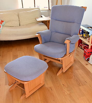 Dutailier rocking gliding nursing chair with rocking footstool