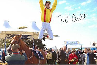 """horse racing frankie dettori signed 6"""" x 4"""" photograph"""