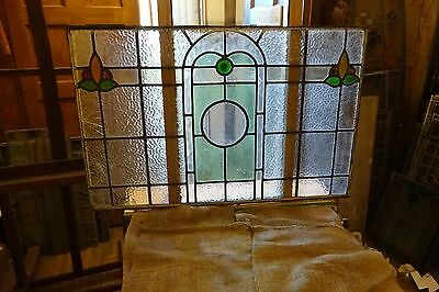 Over Door Stained  Glass Panel  .