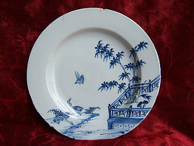 18th Century Chinese Blue White Plate