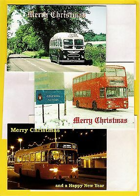 Bus Christmas Cards - Assorted Designs - Pack of 5 & Envelopes