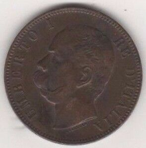 1895 10 cents coin from Italy.