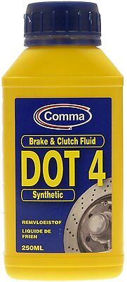 Comma DOT 4 Synthetic Brake and Clutch Fluid 250ml