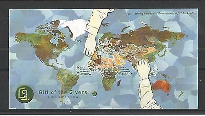 South Africa 2013 Gift Of The Givers Minisheet Sg,ms2002 Un/mm Nh Lot 1445A