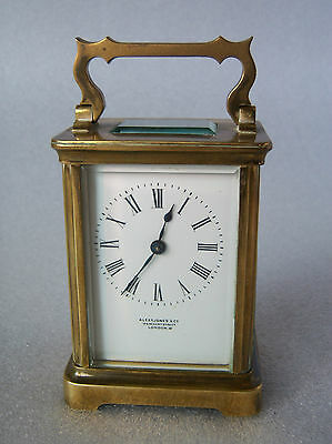 French Brass Carriage Clock Alex Jones & Co, London