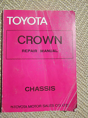Toyota Crown Chassis Repair Manual, Factory Issue , From 1975