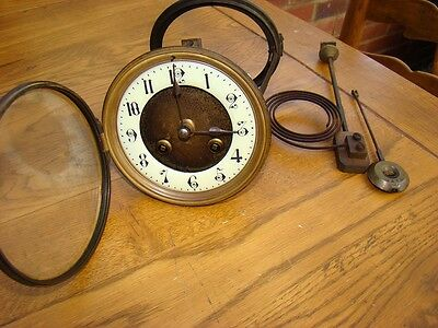 French mov't original pendulum 8 day strike parts or restore springs ok + gong
