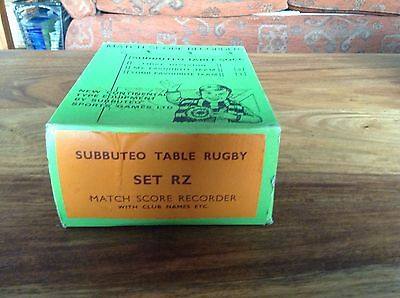 Subbuteo Table Rugby Scoreboard Set RZ With Lamps