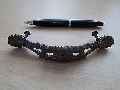 Architectural vintage furniture handle in sculptured steel - see pictures!!