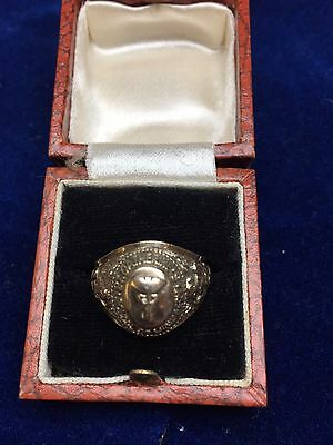Unusual Midwifery College Style Gold Ring For The ST Catherine's School Of  1971