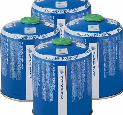 4 Pack Campingaz CV470 Propane Butane Gas Cartridges