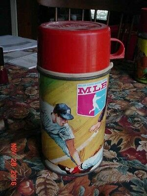 1968 MLB Major League Baseball Players.METAL THERMOS