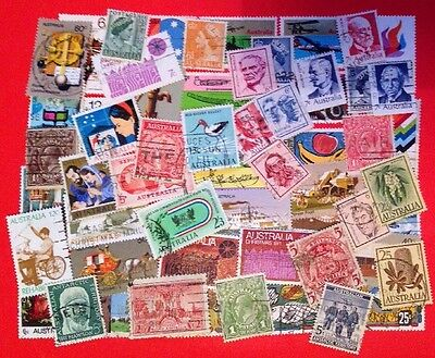 COMMONWEALTH -AUSTRALIA (2) Used Collection Over 60 Stamps