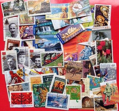COMMONWEALTH -AUSTRALIA (5) Modern Day Used Collection Over 50 Stamps