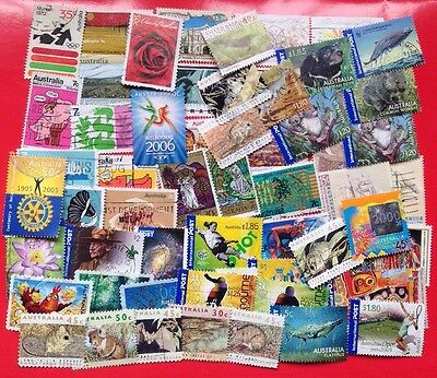 COMMONWEALTH -AUSTRALIA (8) Used Modern Day Collection Over 50 Stamps