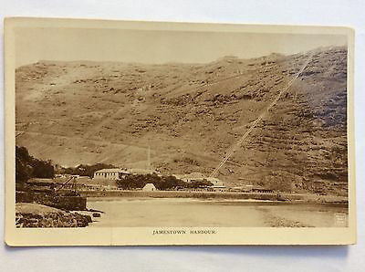 vintage postcard, St Helena, Jamestown Harbour, rp, early view