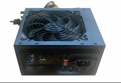 600W Black 120mm Fan Gaming ATX12V PCIe Replacement Computer PC Power Supply PSU