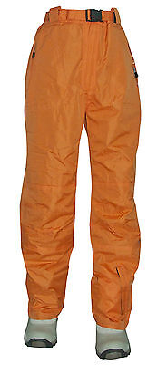 Boys Girls Trespass Salopettes Ski Snow  Pants Waterproof Trousers Orange