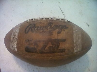 Vintage RAWLINGS ST5 Leather Football official size
