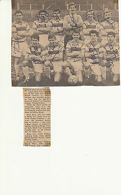 QPR YOUTH TEAM PHOTO ALL AUTOGRAPHED 1960s
