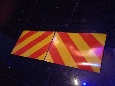Sticker Reflective Chevrons Safety Signs Gas Fork Truck Recovery Car Transporter