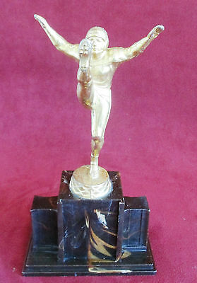 "Vintage R. S. Owens Punter / Kicker Football Trophy 8 3/4"" Tall"