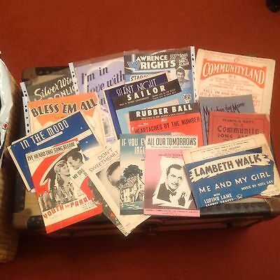 Job Lot Of 18 Vintage Music Song Sheets And Books