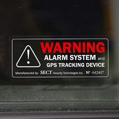 4 WARNING STICKERS - Car, Van Security Alarm Device Decal - for Tinted Windows