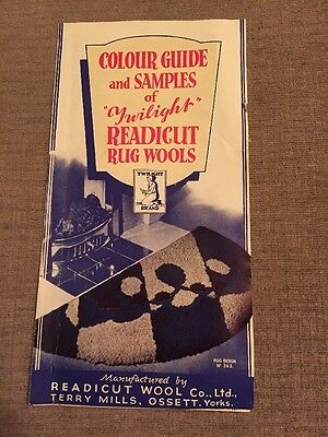 Readicut Rugs and Rugmaking, Vintage Colour Guide & Samples Catalogue