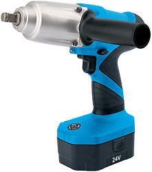 """Draper 31075 24V Cordless 1/2"""" Sq.dr. Impact Wrench With Two Ni-Cd Batteries"""