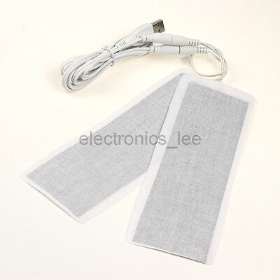 1Pair 5V 2A USB Electro thermal Heater 6*20CM for Kneepad Insole Warm Feet