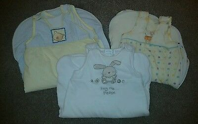 Bundle of 3 Baby Sleeping Bags. 0-6 months.