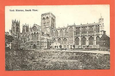 York Minster, South View, North Yorkshire. Postcard.1908.