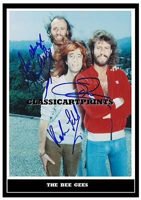 195.    Bee Gees   Barry Gibb  Signed  A4 Photograph Reprint#