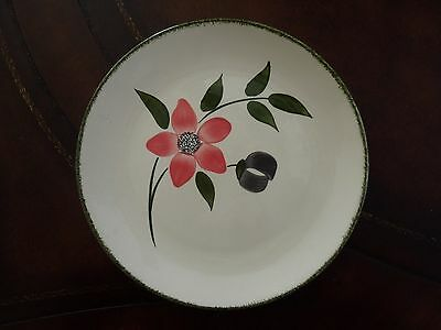 """Vintage Blue Ridge Southern Potteries 9 1/2"""" """"pinkie"""" Luncheon Plate"""