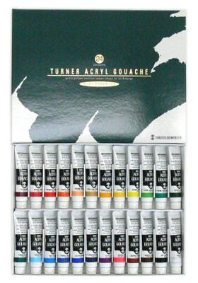 Turner acrylic gouache 24 colors School set