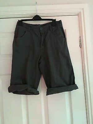 Marks and Spencer Boys Aged 12 Grey shorts