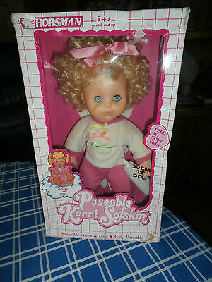 Horsman 12ins vintage doll Poseable Kerri sofskin boxed drink/wetting