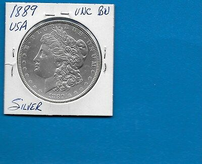 1889 Us Silver Dollar Uncirculated