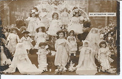 Vtg RP pc Children's Dolls - An Attractive Group pu 1915