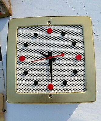 Mid Century Modern NuTONE L-35 Door Chime and Clock,Designed by GEORGE NELSON