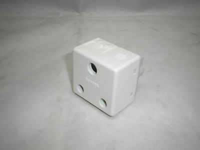 Gewiss Gw20209 15A 230V 2Pin & Earth Round Pin 2Gang Modular Socket White