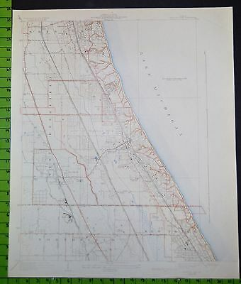 Highland Park Illinois 1930 Topographic Map 21x26 Inches