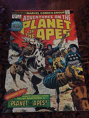 Marvel Adventures on the Planet of the Apes Comic #1  1975  First Issue